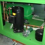 compressori in un gruppo frigorifero condensato ad aria di media potenza