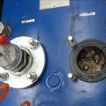 Connessioni flangiate ricavate direttamente sul fusto in uno scambiatore a piastre ispezionabile