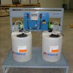 Skid dosaggio chemicals completo di sistema di spurgo automatico