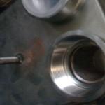 Scambiatori di calore a piastre per oleodinamica con tipiche connessioni filettate femmina e prigionieri di supporto