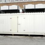 elettroradiatori remoti installati su conteiner