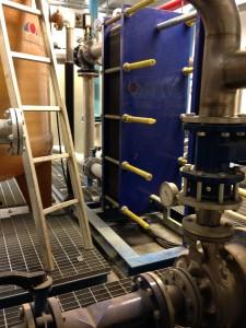 Cooling plant for carboceramic brake production