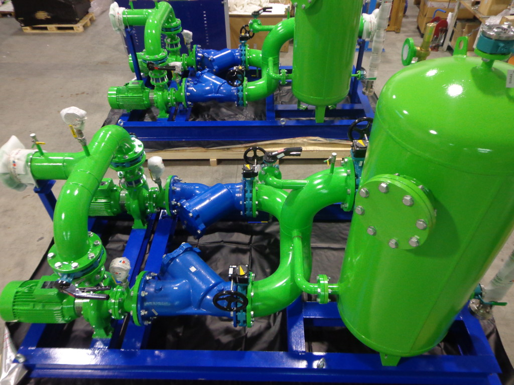 water pumping skid for petrolchemical process air compressors