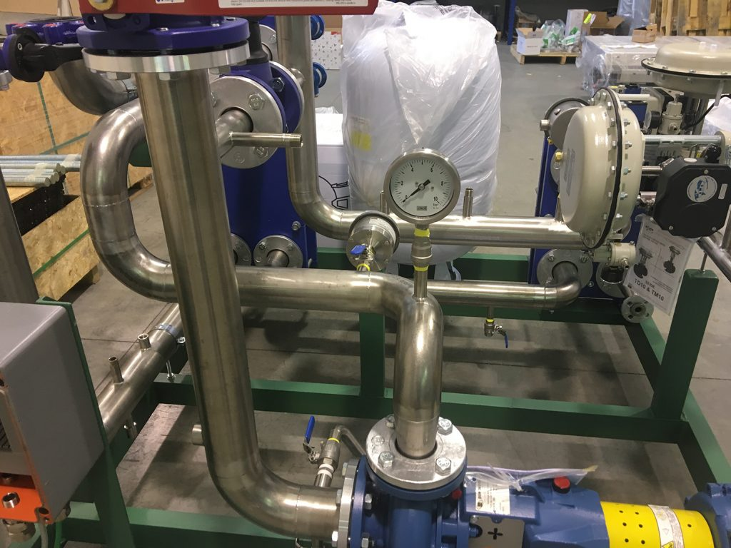 skid Atex industria chimica termoregolazione