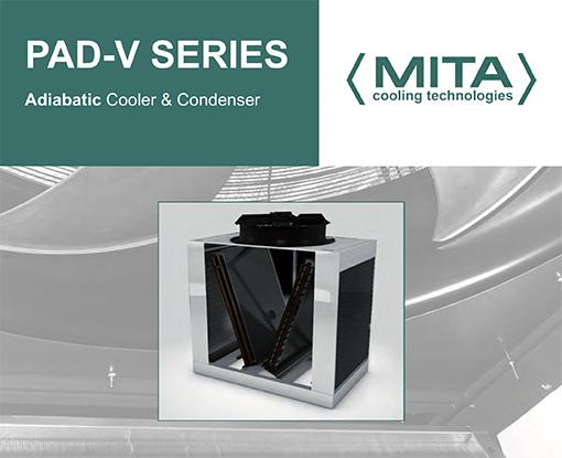 adiabatic free cooling Mita PAD-V series