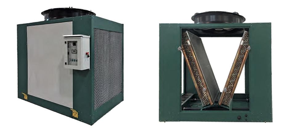 free cooling plastica raffreddatore adiabatico Mita PAD-V
