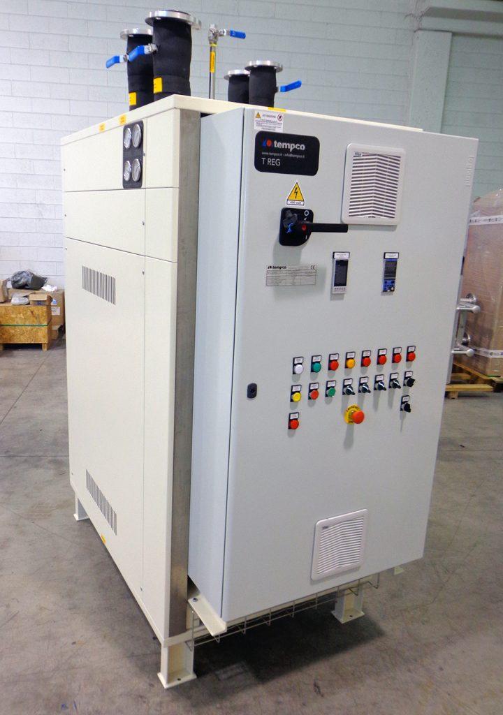 commissioning centraline termoregolazione TREG olio diatermico
