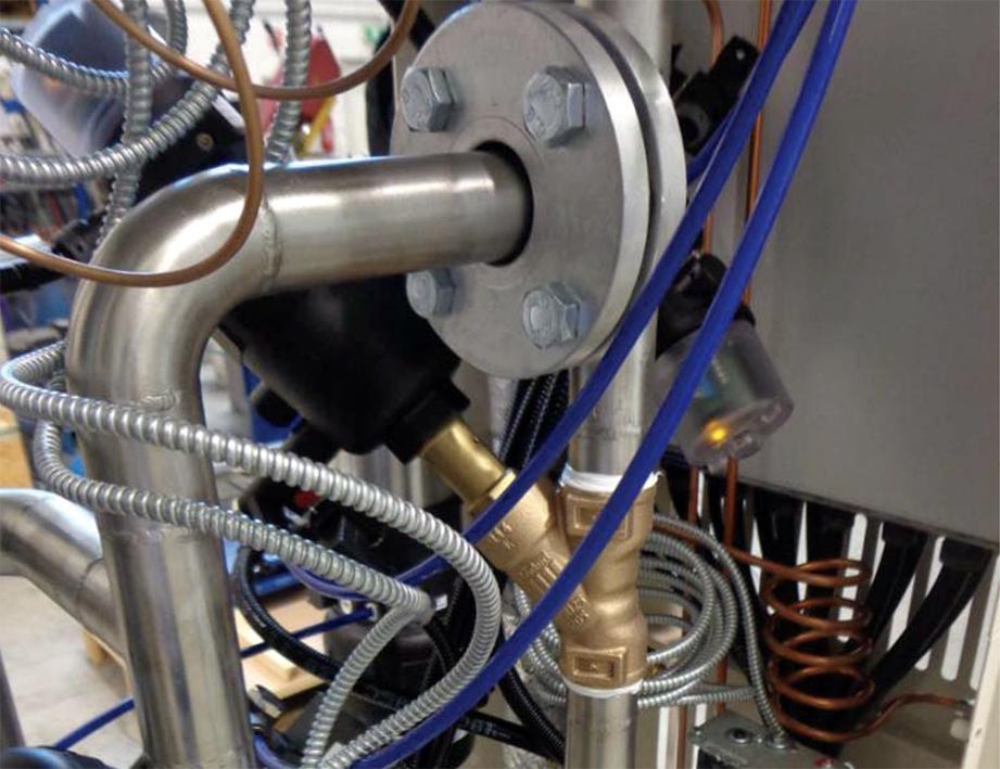 commissioning circuito termoregolazione olio diatermico
