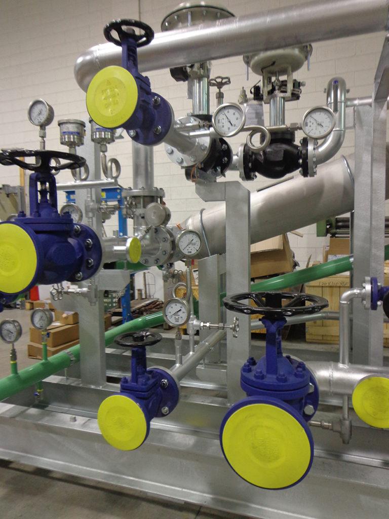 regolazione temperatura impianto chimico