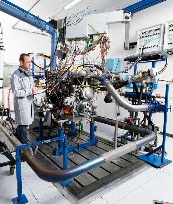 electric engine test bench