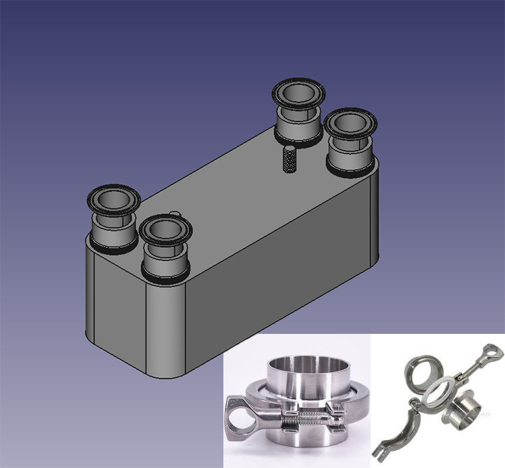Scambiatori tri-clamp